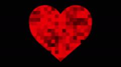 Heart shape on digital screen. Seamless loop animation. Stock Footage