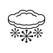 Cloud climate concept isolate icon Stock Illustration