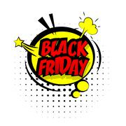 Comic red sound effects pop art black friday Piirros
