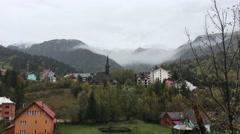 Landscape view from Strada Preluca Tatarilor Stock Footage