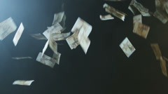 Throwing fake money in the air Stock Footage