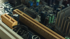 Installed in the computer motherboard CPU Stock Footage