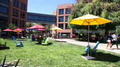 Google headquarters relaxing area Stock Footage