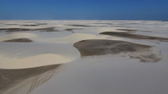 Vast Desert and Sand Dunes in Heavy Wind 002 Stock Footage