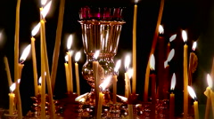 Cinemagraph the wax candles of the Church. Stock Footage