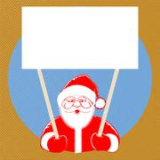 Santa Claus comic style on dotted background Stock Illustration