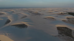 Vast Sand Dune Wilderness at Sunset 001 Stock Footage
