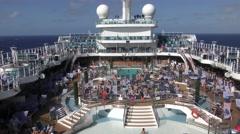 Cruise ship at sea Stock Footage