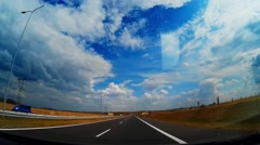 Dash Cam Highway Good Weather Conditions Driving POV, Poland Europe Stock Footage