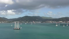 St Maarten Dutch Antilles Stock Footage