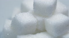 Extreme close up view of cube sugar with rotating, Dolly shot Stock Footage