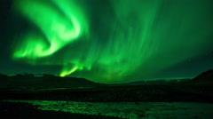 Aurora Borealis over a River Stock Footage