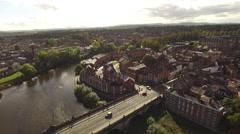 Shrewsbury Aerial pan shot Stock Footage