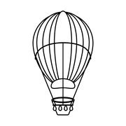 Isolated hot air balloon design Piirros