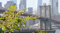 Brooklyn Bridge daytime, view from Dumbo Stock Footage