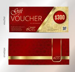 Vector illustration,Gift voucher template with clean and modern pattern Stock Illustration