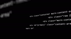 Hacker code running down a computer screen terminal Stock Footage