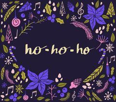 Christmas card with fir tree Stock Illustration