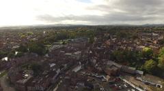 Shrewsbury Aerial panning shot Stock Footage