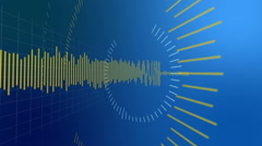 Graphical display of sound waves on the electronic screen *** More in my port Stock Footage