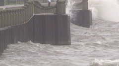Big waves in storm Stock Footage