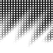 Background with gradient of black and white hexes Stock Illustration