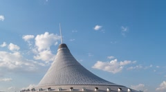 Astana, Kazakhstan - The shopping center built in the shape Stock Footage