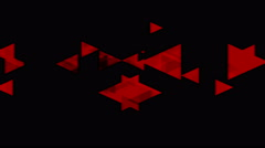 Tech red black video animation with triangles Stock Footage