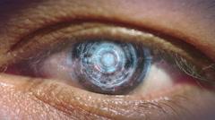 Eye of cyborg. Stock Footage