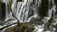 Waterfall in Jiuzaigou of China, realtime video by the camera Stock Footage