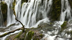 Waterfall in Jiuzaigou of China, timelapse by the camera Stock Footage
