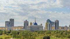 The main attractions of the new Astana. Ak orda Palace, Baiterek, Khan-Shatyr Stock Footage