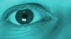 Scanning woman eye Stock Footage