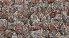 Plexus Rust Metall Abstract 3d rendering Stock Illustration