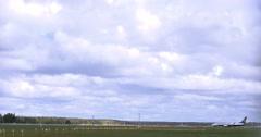 Airplane takeoff runway airport 4k Arkistovideo