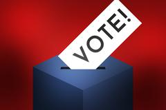 Vote USA Presidential Elections in America 2016 Stock Illustration