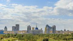 The main attractions of the new Astana. Akorda Palace, Baiterek, KhanShatyr and Stock Footage