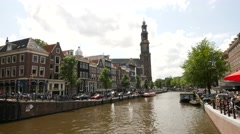 View of the Munttoren's clockwork and carillon Stock Footage
