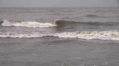 Big waves rolling in ahead of storm Stock Footage