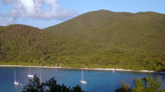 Panning Video of Maho Bay, St John Stock Footage