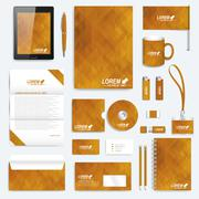 Golden set of vector corporate identity template. Modern business stationery Piirros
