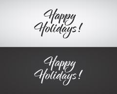 Happy Holidays text and lettering. Holiday typography Vector Illustration Stock Illustration
