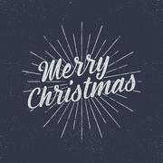 Christmas lettering, wishes and vintage labels. Season's greetings calligraphy Stock Illustration