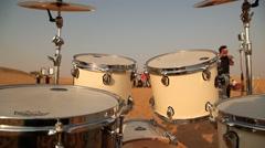Antic Music Instrument Drum Stock Footage