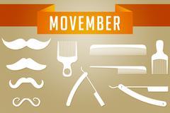 Movember Graphic Wallpaper Stock Illustration