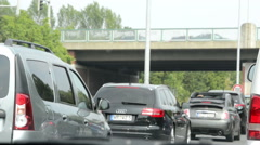 Driving along A2 motorway in Germany lower Saxony close to city Braunschweig. Stock Footage