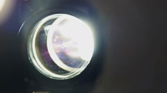 Flicker of the projector lens, off, close up Stock Footage