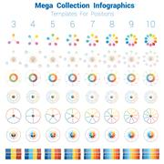 Mega Collection Infographics cyclic processes Stock Illustration