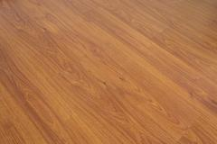 Wood laminate floor varnish decorated in home Stock Photos