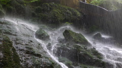Cinemagraph of Close-up of bottom of a waterfall.4k Stock Footage